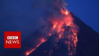 Timelapse of Philippines volcano eruption - BBC News