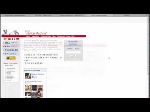 Citation Machine Tutorial/ Hanging Indents in Google Docs
