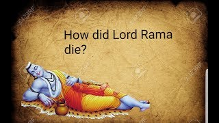 HOW DID LORD RAMA DIE ??|| WHAT HAPPENED AT THE END OF RAMAYANA #story #rama #athivaradar