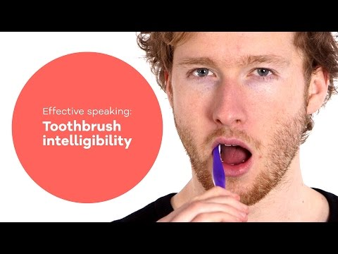 Vocal exercise - Speaking #1: Toothbrush intelligibility