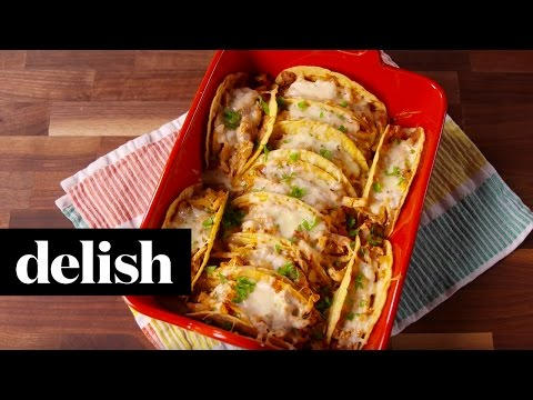 Cheesy Chicken Tacos | Delish