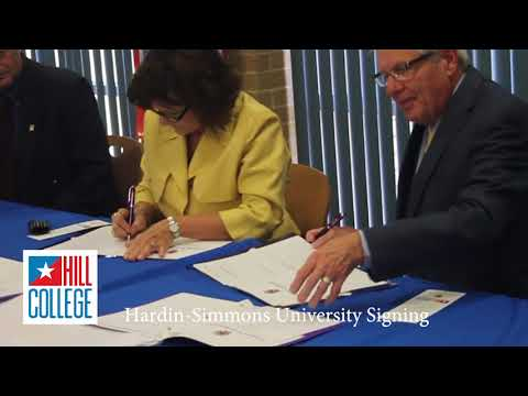 Hill College University Partners Signing