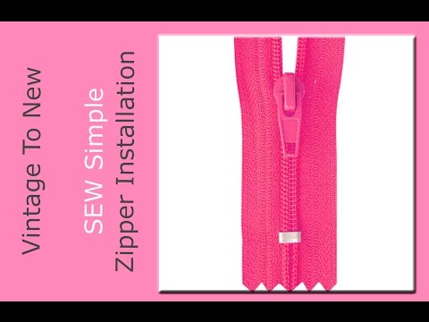 Super Simple Zipper Installation - Zipper Hack