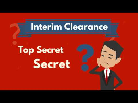 What is an Interim Security Clearance?