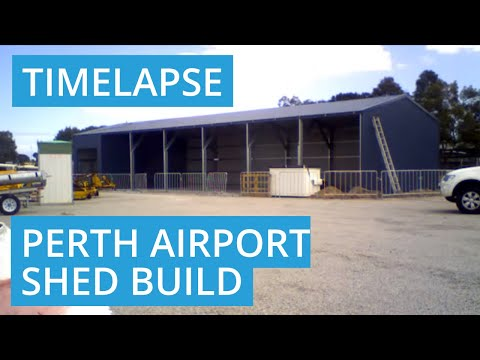24.5m x 8m x 4m Shed Build at Perth Airport, Cloverdale WA 6105