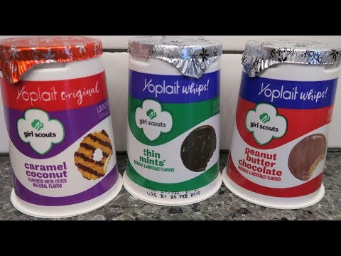 Yoplait Girl Scouts Yogurt Original & Whips: Caramel Coconut, Thin Mints & Peanut Butter Chocolate