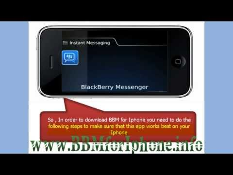 Watch Blackberry Messenger For Iphone! - Bbm For Iphone