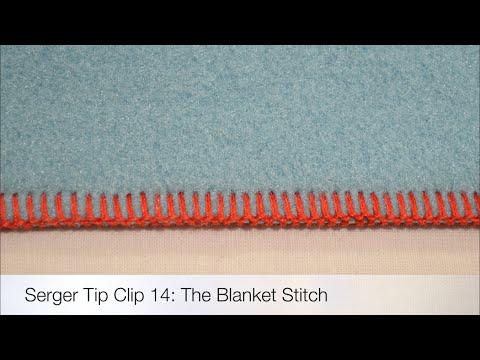 The Serger Blanket Stitch