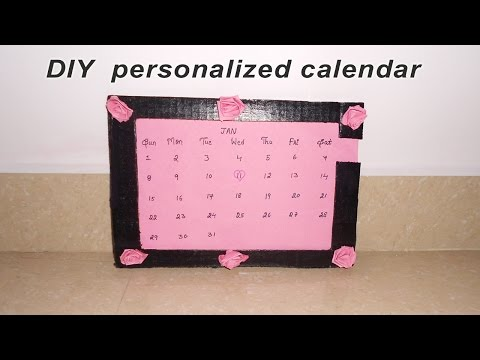 How to make personalized calendar | DIY | best out of waste | Niya kumar