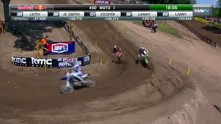 Eli Tomac vs marvin musquin carrera completa moto 1 star 450 cc