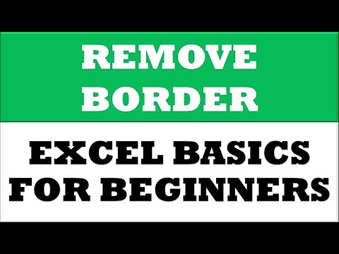 How to Remove Border for selected cells in MS Excel 2016