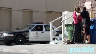 Woman Abused In Front Of Cops Prank!