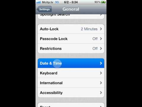 how to change iphone ios 5 Date & Time