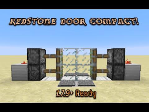 Minecraft 1.7.9+ : Redstone Tutorial - Compact 2x2 Piston Door