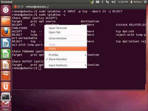 Firewall using Iptables on Ubuntu 12.04 VMWare