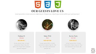 Build a responsive Review website section using html \u0026 css
