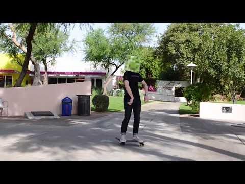 Exploding Creeper on Skateboard