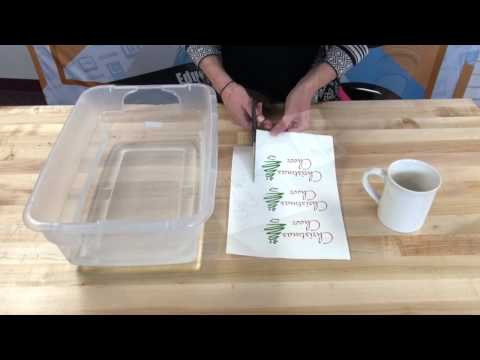 How To Decorate a Mug Using Inkjet Transfer Paper