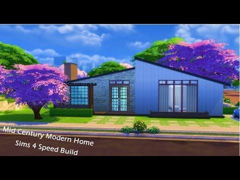 Mid Century Modern Home | Sims 4
