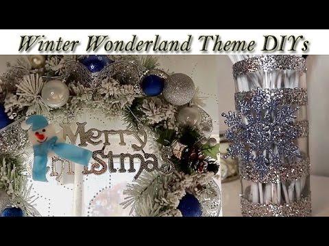 DIY | Winter Wonderland Glitter Vase & Frosted Wreath