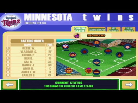 Backyard Baseball 2001: Bombers vs. Twins