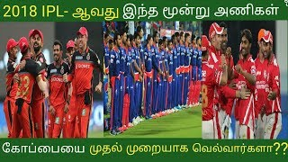 IPL 2018-ஆவது கோப்பையை வெல்வர்களா இந்த மூன்று அணிகள் -  IPL 2018 Latest News in Tamil