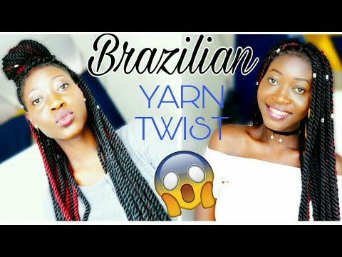 Protective Styles |Brazilian Wool/Yarn Twist |Requested Video|