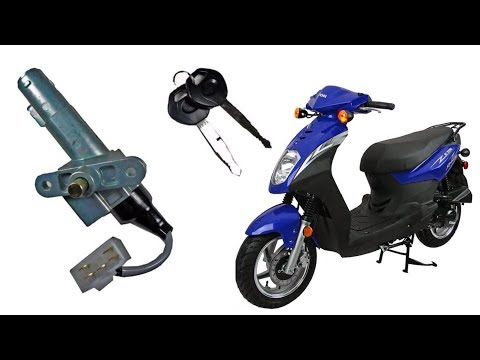 How to replace the ignition lock key switch in a scooter