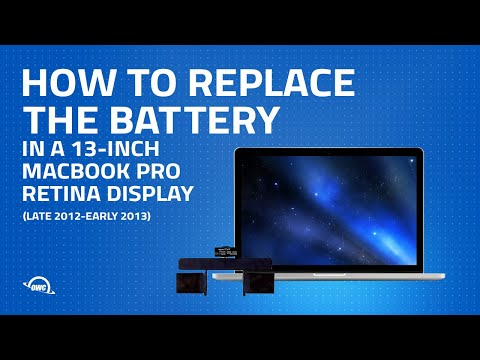 How to Upgrade / Replace the Battery in a MacBook Pro Retina 13-inch (late 2012 to early 2013)