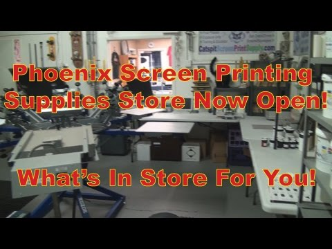 Phoenix Screen Printing Equipment And Supplies: What's In Store For You?