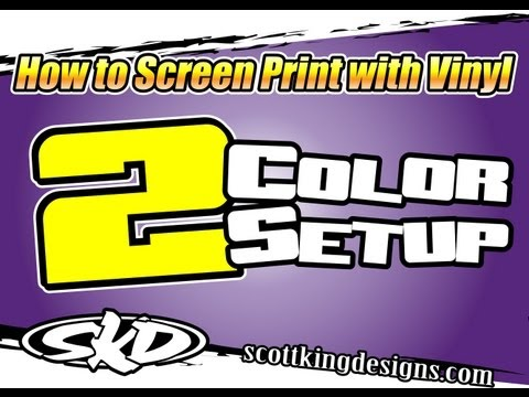Screen Printing with Vinyl 2 Color