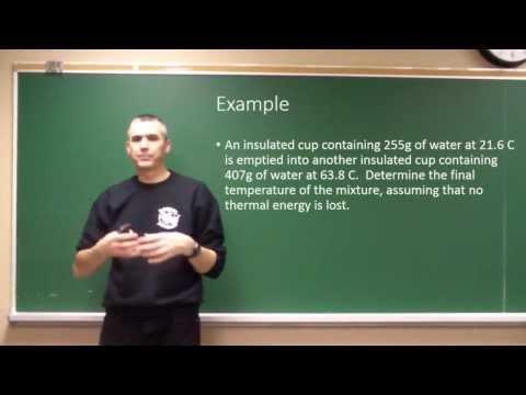 Temperature, Heat and Specific Heat Capacity