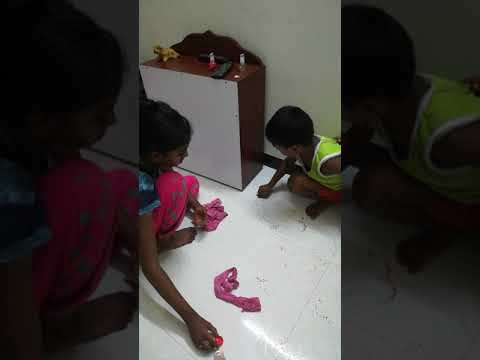 How to clean the nail polish from the  Tiles floor