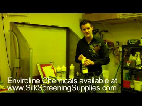 Supplies for the Yudu, Enviroline Chemicals for Cleaning Yudu Screens