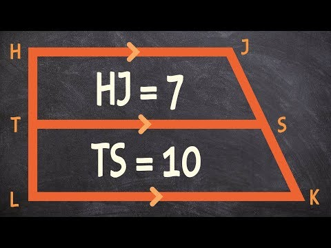 Applying the midsegment theorem to find the base of a trapezoid