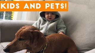 The Funniest Pets Meet The Cutest Kids & Babies of 2017 Weekly Compilation   Funny Pet Videos