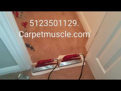 Closet carpet install and pad replacement in Austin Texas.