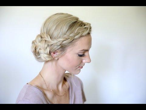 Easy Braided Side Bun   Homecoming Hairstyles   Cute Girls Hairstyles