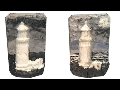Making an Easy Lighthouse Scene with Cold Process Soap Clay