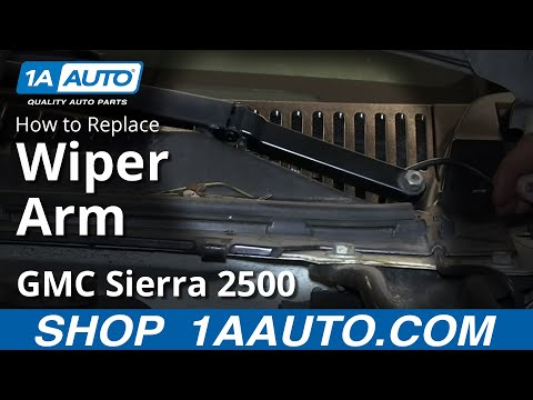 How To Install Replace Stripped Wiper Arm 1999-02 Chevy Silverado GMC Sierra