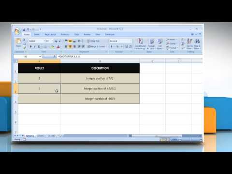 How to use the QUOTIENT function in Excel