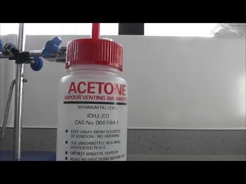 Acetone and Methanol plus dry ice