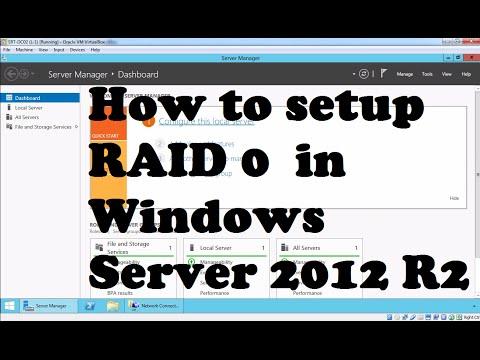 How to Configure RAID 0 (Striped Volume) Windows Server 2012 R2