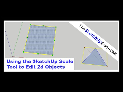 Using the SketchUp Scale Tool to Modify 2d Objects  | SketchUp Essentials #4