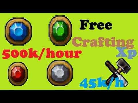 500k/H Money Making & 45k /H Free Crafting xp! 2007 Old School Runescape.