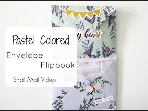 Pastel Colored Envelope Flipbook   Snail Mail video