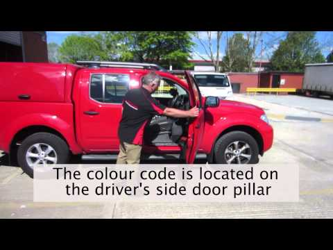How to find the colour code for the Nissan Navara D40 MK2