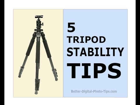 5 tripod stability tips