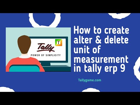 Unit of measure,creation,dispaly,alter and delete in tally erp9