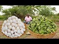 Download LADY FINGERS with EGGS Prepared by my uncle | food fun village MP3,3GP,MP4